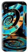Infinity Time Cube On Black IPhone Case