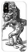 Injured Lion, Conceptual Artwork IPhone Case