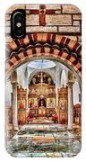 Inside St. Nicholas Chapel At A Greek Monastary In Florence Az IPhone Case