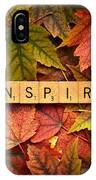 Inspire-autumn IPhone Case