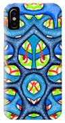 Interconnection In Blue Design IPhone Case