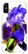 Iris On White IPhone Case