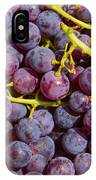 Italian Red Grape Bunch IPhone Case