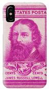 James Russell Lowell Postage Stamp IPhone Case