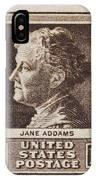 Jane Addams Postage Stamp IPhone Case