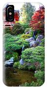 Japanese Garden With Pagoda And Pond IPhone Case