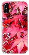Japanese Maple Leaves 11 In The Fall IPhone Case
