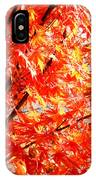 Japanese Maple Leaves 12 In The Fall IPhone Case