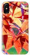 Japanese Maple Leaves 6 In The Fall IPhone Case