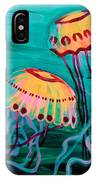 Jellyfish In Green Water IPhone Case