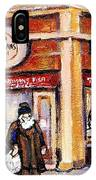 Jewish Montreal Vintage City Scenes Fish Market On Roy Street IPhone Case