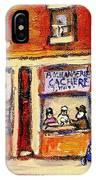 Jewish Montreal Vintage City Scenes Hutchison Street Butcher Shop  IPhone Case