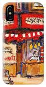 Jewish Montreal Vintage City Scenes Schwartzs Original Hebrew Deli IPhone Case
