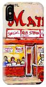 Jewish Montreal Vintage City Scenes The Main Rib Steaks On St. Lawrence Boulevard IPhone Case