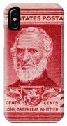 John Greenleaf Whittier Postage Stamp IPhone Case
