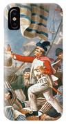 John Paul Jones Shooting A Sailor Who Had Attempted To Strike His Colours In An Engagement IPhone Case