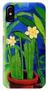 Jonquils And Bamboo Plant IPhone Case