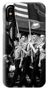 Jrotc Carrying Flag In The Parade IPhone Case