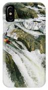Kayaker At The Top Of A Waterfall IPhone Case