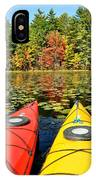 Kayaks In The Fall IPhone Case