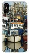 Kilkeel, Co Down, Ireland Rows Of Boats IPhone Case