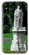 King Edward Vii Statue - Lichfield IPhone Case