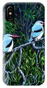 Woodland Kingfisher IPhone Case