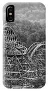 Knobels Wooden Roller Coaster Black And White IPhone Case