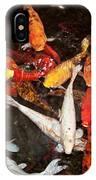 Koi Fish Movement Iv IPhone Case
