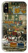 Kowloon Street With Workers Setting IPhone Case