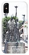 La Rogativa Sculpture Old San Juan Puerto Rico Colored Pencil IPhone Case