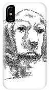 Labrador-portrait-drawing IPhone Case