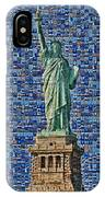 Lady Liberty Mosaic IPhone Case