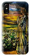 Lady Stained Glass Window IPhone Case
