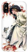 Lady With Dog IPhone Case