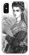 Lady With Fan, C1878 IPhone Case