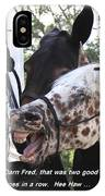 Laughing Horse IPhone Case