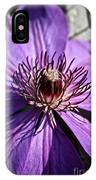 Lavender Clematis IPhone Case
