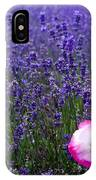Lavender Field With Poppy IPhone Case