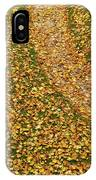 Lawn Covered With Fallen Leaves IPhone Case