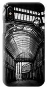 Leadenhall Market Black And White IPhone Case