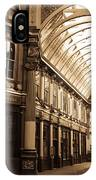 Leadenhall Market London Sepia Toned Image IPhone Case
