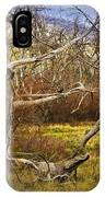 Leaf Barren White Tree Trunk In California No.1500 IPhone Case
