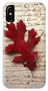 Leaf On Letter IPhone Case