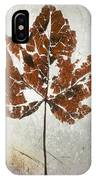 Leaf  With Textured Effect IPhone Case