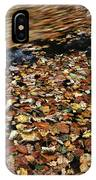 Leaves Floating On River Water IPhone Case