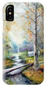 Leaving The Woodland Creek  IPhone Case