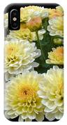 Lemon Meringue Chrysanthemums IPhone Case