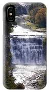 Letchworth State Park Middle Falls With Watercolor Effect IPhone Case