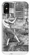 Letter Press Printer, 1807 IPhone Case